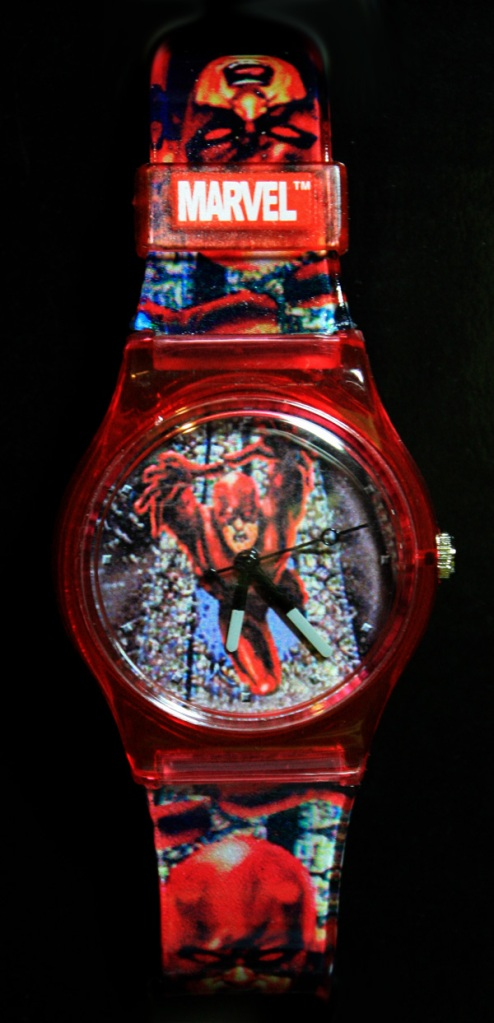 Daredevil wristwatch analog style with red band